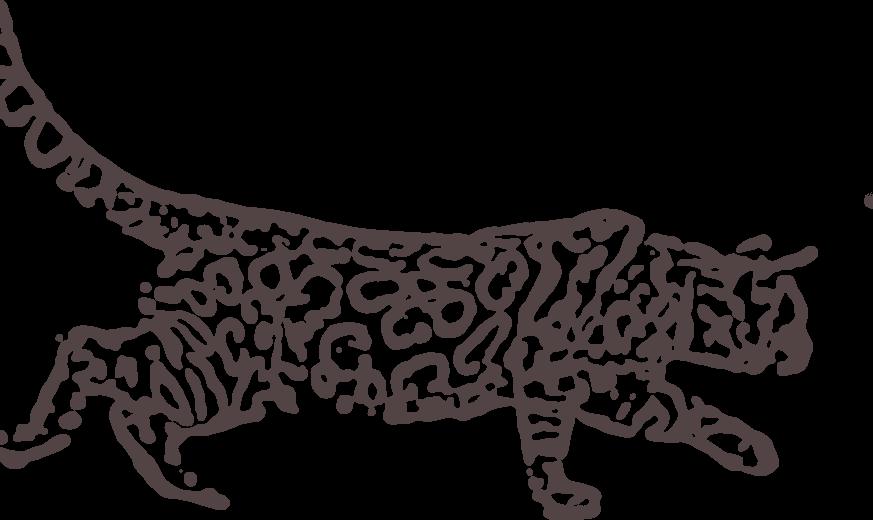 silueta gato bengal